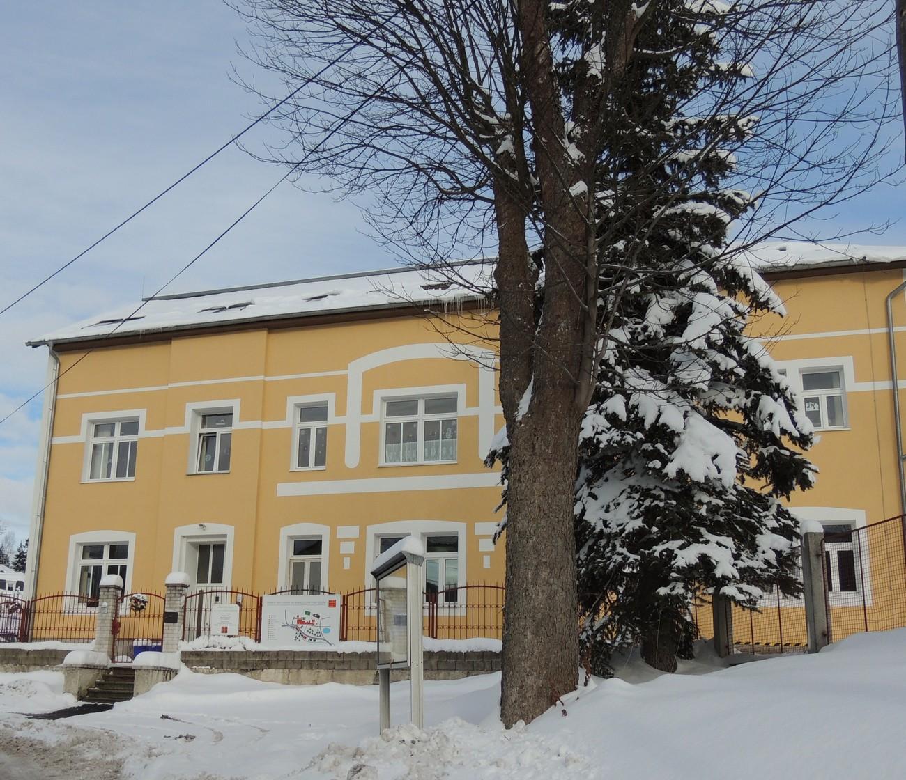 Budova č.3 v zimě