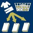 die Wäsche aufteilen
